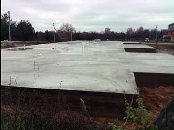 Фундамент для постройки гаража в Королёве