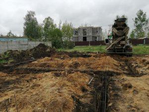 Ленточный фундамент в д. Караваево