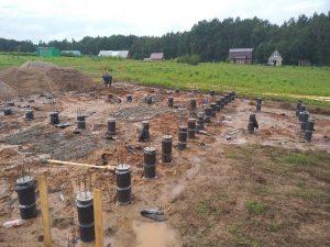 Свайно-ростверковый фундамент в Лускава