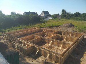 Свайно-ростверковый фундамент в д. Вицковщина