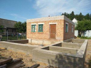 Свайно-ростверковый фундамент в д. Юхновка