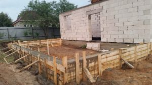 Свайно-ростверковый фундамент в д. Маховка