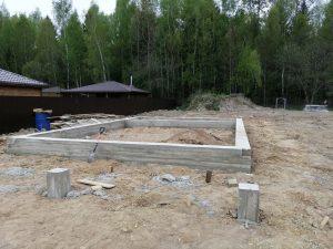 Свайно-ростверковый фундамент в ст. Калезея