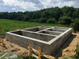 Свайно-ростверковый фундамент в д. Гарани